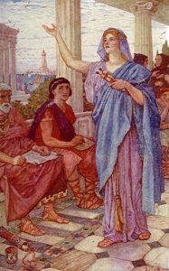 Conferencias IPARS. Imagen clásica de Hipatia, primera mujer conferenciante